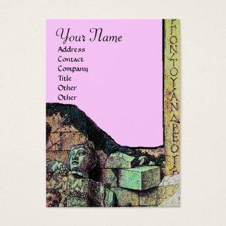 ARCHEO /Antiquary,Archaeology Monogram,Pink Green Business Card