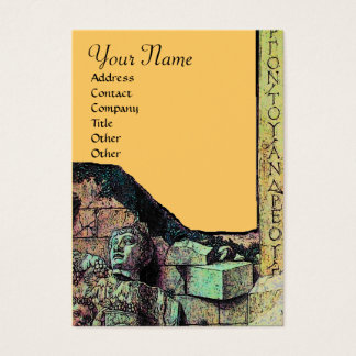 ARCHEO,Antiquary,Archaeology Monogram,Yellow Green Business Card