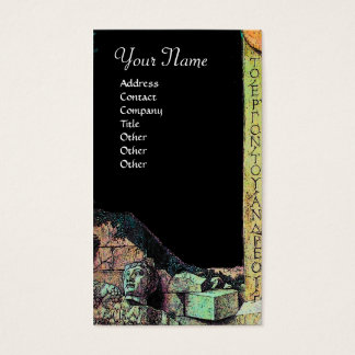 ARCHEO /Antiquary,Archeology, Black Pink Green Business Card