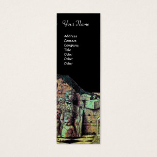 ARCHEO /Antiquary,Archeology, Black Pink Green Mini Business Card