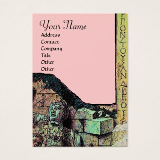 ARCHEO /Antiquary,Archeology Monogram,Pink Green Business Card