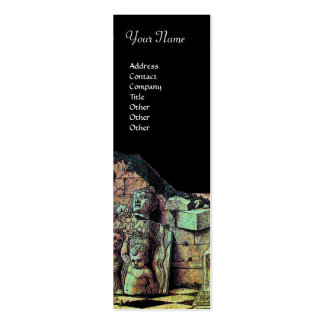 ARCHEO MONOGRAM ,bright green brown black Business Cards