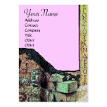 ARCHEO MONOGRAM ,bright green brown pink Business Card Template