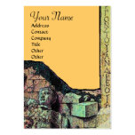 ARCHEO MONOGRAM ,bright green brown yellow Business Cards