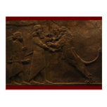 Archeological Find: Assyrian Lion Hunt Fresco, Postcard