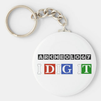 Archeology I Dig It Basic Round Button Keychain