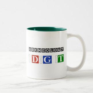 Archeology I Dig It Two-Tone Coffee Mug