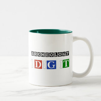 Archeology I Dig It Two-Tone Coffee Mug