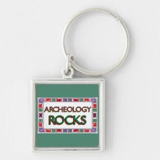 Archeology Rocks Keychain