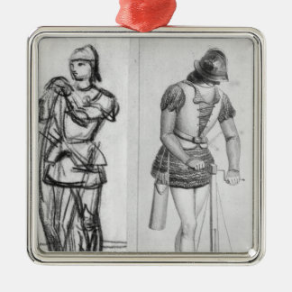 Archer and crossbowman ornaments