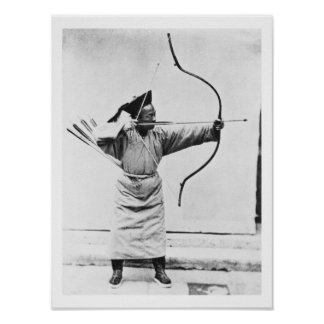 Archer chino, c.1870 (foto de b/w) póster