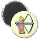 Archer con el arco y la flecha iman para frigorífico