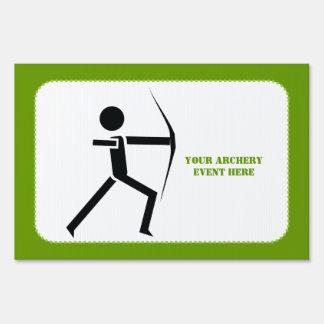 Archer con su negro del arco, personalizado verde cartel
