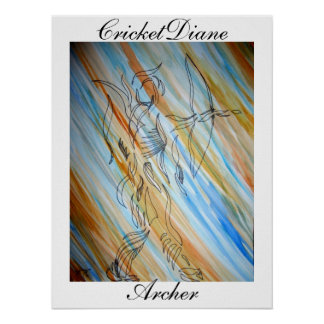 Archer - CricketDiane Dimensional Ribbon Series Poster