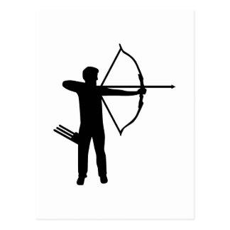 Archer del tiro al arco postales