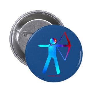 Archer en botón del color pin redondo de 2 pulgadas