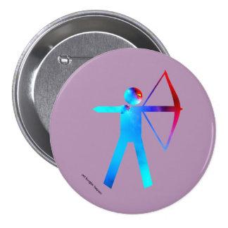 Archer en color - botón pin redondo de 3 pulgadas
