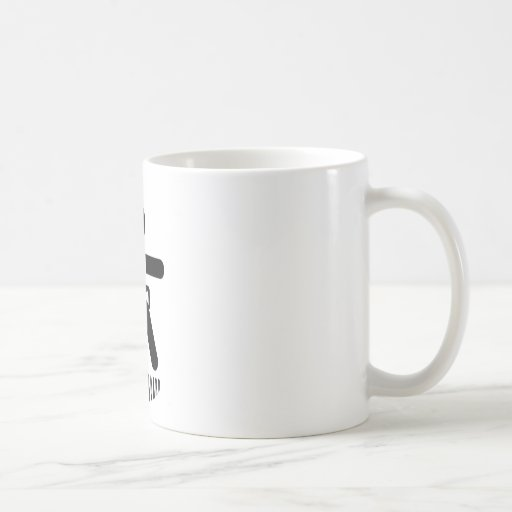 Archer en el tablero taza de café