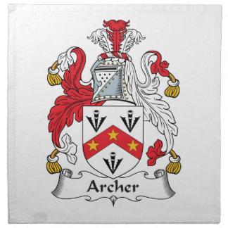 Archer Family Crest Cloth Napkin