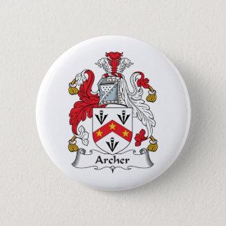 Archer Family Crest Pinback Button