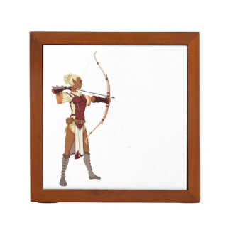 Archer- female elf desk organizer
