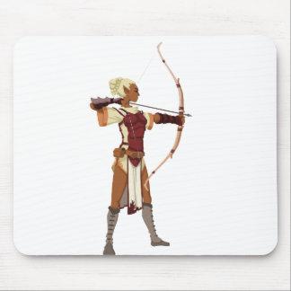 Archer- female elf mouse pad
