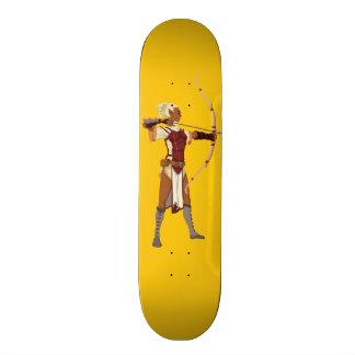Archer- female elf skateboard deck