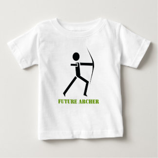 Archer futuro con su negro del arco, tiro al arco playera de bebé