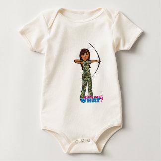 Archer Girl in Camo - Dark Baby Bodysuit
