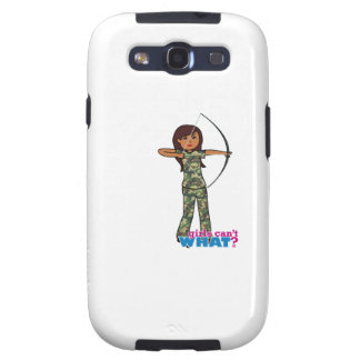 Archer Girl in Camo - Dark Galaxy S3 Case