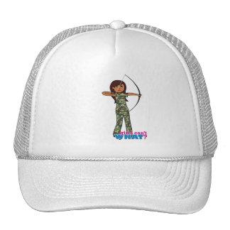 Archer Girl in Camo - Dark Trucker Hat