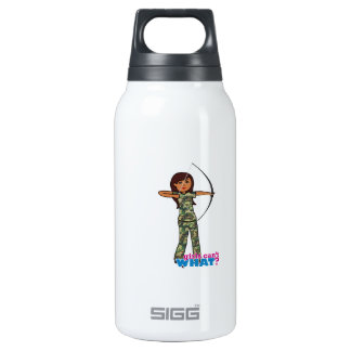 Archer Girl in Camo - Dark Insulated Water Bottle