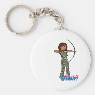 Archer Girl in Camo - Dark Key Chain