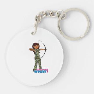 Archer Girl in Camo - Dark Keychains