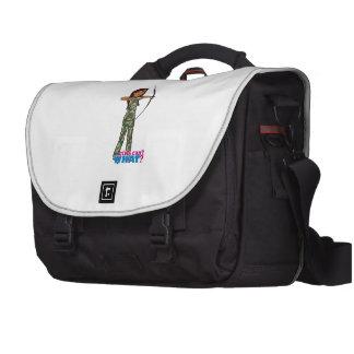 Archer Girl in Camo - Dark Laptop Commuter Bag