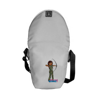 Archer Girl in Camo - Dark Courier Bag