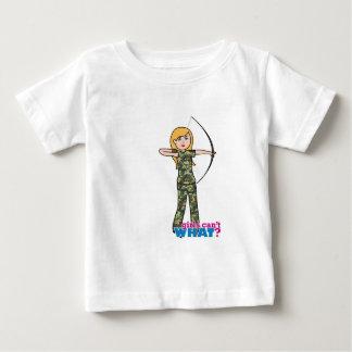 Archer Girl in Camo - Light Baby T-Shirt