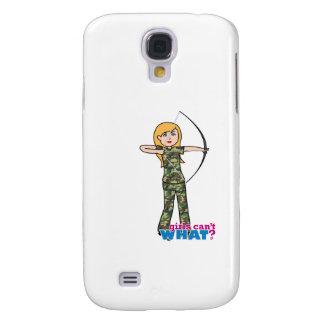 Archer Girl in Camo - Light Samsung Galaxy S4 Case