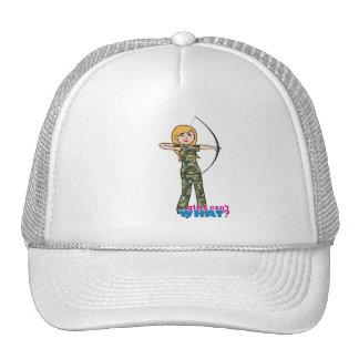 Archer Girl in Camo - Light Trucker Hat