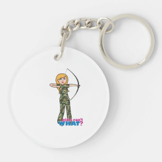 Archer Girl in Camo - Light Key Chains