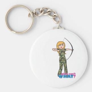 Archer Girl in Camo - Light Keychain
