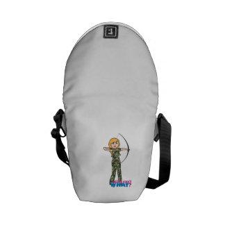 Archer Girl in Camo - Light Messenger Bag