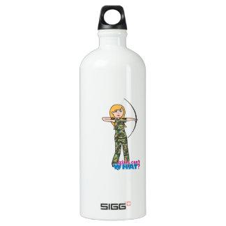 Archer Girl in Camo - Light Water Bottle