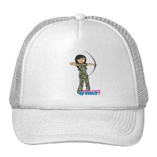 Archer Girl in Camo -  Medium Trucker Hat