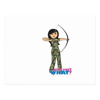 Archer Girl in Camo -  Medium Postcard
