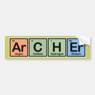 Archer hizo de elementos pegatina para auto