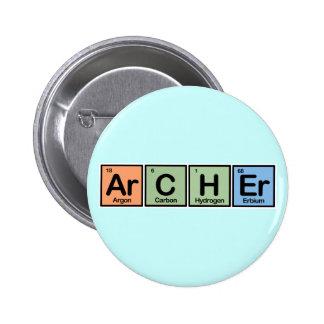 Archer hizo de elementos pin redondo de 2 pulgadas