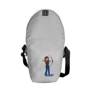 Archer - Light/Red Messenger Bag