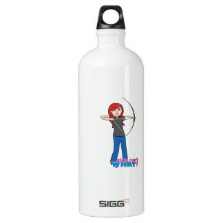 Archer - Light/Red Water Bottle