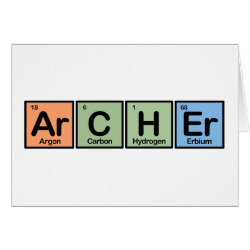 Archer Greeting Card